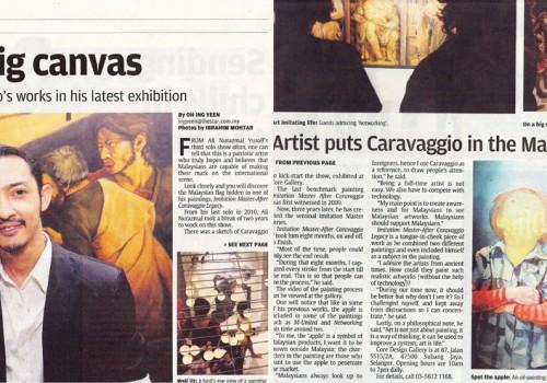 Working on Big Canvas – Ali Nurazmal (Star Metro Paper)