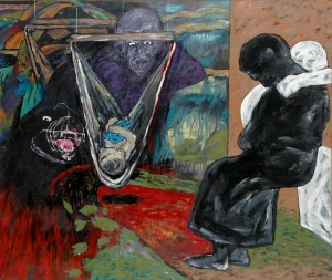 Nightmare. Oil on Canvas.152cmx 192cm.1995