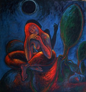 Black Moon 3, acrylic on canvas, 157x147cm, 1989