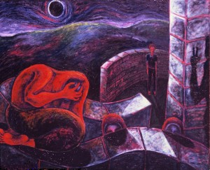 Black Moon 4, acrylic on canvas, 148x214cm,1989
