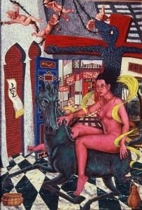 Prospect, acrylic on canvas, 223x152cm, 1995