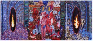 The Soul Under Midnight. oil on canvas. 490x220cm. 1996