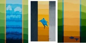 Night, In Between, Dawn (Triptych), Oil on Canvas, 2004