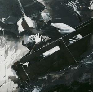 Husin Othman, Siri November Riuh Petang, Acrylic on Canvas, 123cm x 122cm, 2014