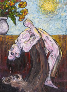 Ahmad Fuad, Untitled, Oil on Canvas, 111 cm x 85 cm with frame, 1995