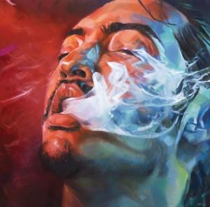 Ali Nurazmal Yusoff, Feeling Good, Oil on Canvas, 152cm x152cm, 2012