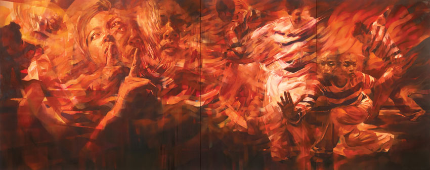 Ali Nurazmal Yusoff, Ralik 2, Oil on Canvas, 183cm x 457cm, 2015