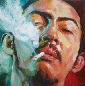 Ali Nurazmal Yusoff, Supplier, Oil on Canvas, 153cm x 153cm, 2011