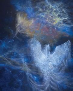 Anuar Rashid Mih(raj)-Home Sweet Home North Star Constellation of Galaxies, Oil on Canvas, 285cm x 233cm, 2013