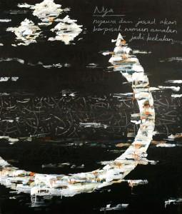 Husin Hourmain, Nya, Acrylic on Canvas, 153 cm x 122 cm, 2015