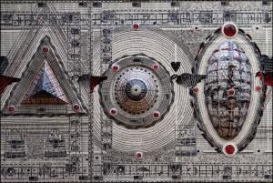 Zulkifli Yusoff, Rukunegara Voice 3, Mixed Media, Screenprint and Acrylic on Canvas, 122 cm x 183 cm, 2013