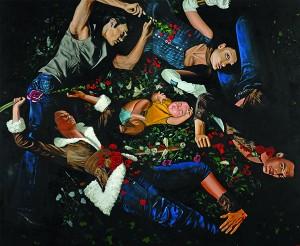 Ahmad Fuad Osman Fatamogana 3 The Spotlight Obssesion Oil on Canvas 248cm x 298cm