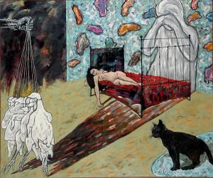 Ahmad Fuad Osman Silent Sorrow Oil on Canvas 151cm x 183cm 1995
