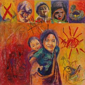 Ahmad Shukri Hope Dishonest Series IV Mixed Media on Canvas 93cm x 92cm 1990