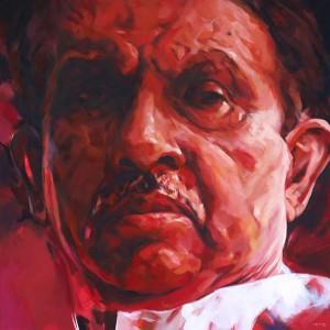 Ali Nurazmal Yusoff Look at You Oil on Canvas 182cm x 182cm 2010