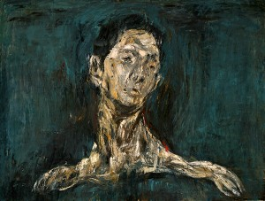 Anthonie Chong Mime Series Painting 3 Oil on Canvas 91cm x 122cm 1995