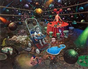 Chan Kok Hooi The Sour Milk of the Milky Way Oil on Canvas 120cm x 150cm 2005