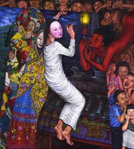 Eng Hwee Chu Lost in Mind Acrylic on Canvas 133cm x 119cm 2008