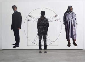 Fadli Yusoff Stand and choose yourself,2010,Instructional performance & acrylic on canvas,214cm x 326cm