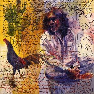 Jalaini Abu Hassan Wet Paint Series Tribute to Latiff Mohidin Waterbase Paint on Canvas 130cm x 130cm 2005
