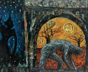 Masnoor Ramli Mahmud Once Upon A Time Oil on Canvas 153cm x 183cm 1996