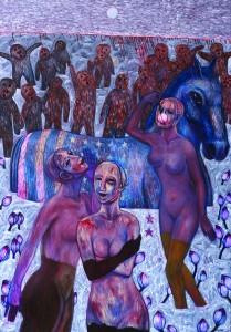 Tan Chin Kuan American Dream Oil on Canvas 200cm x 140cm 2001